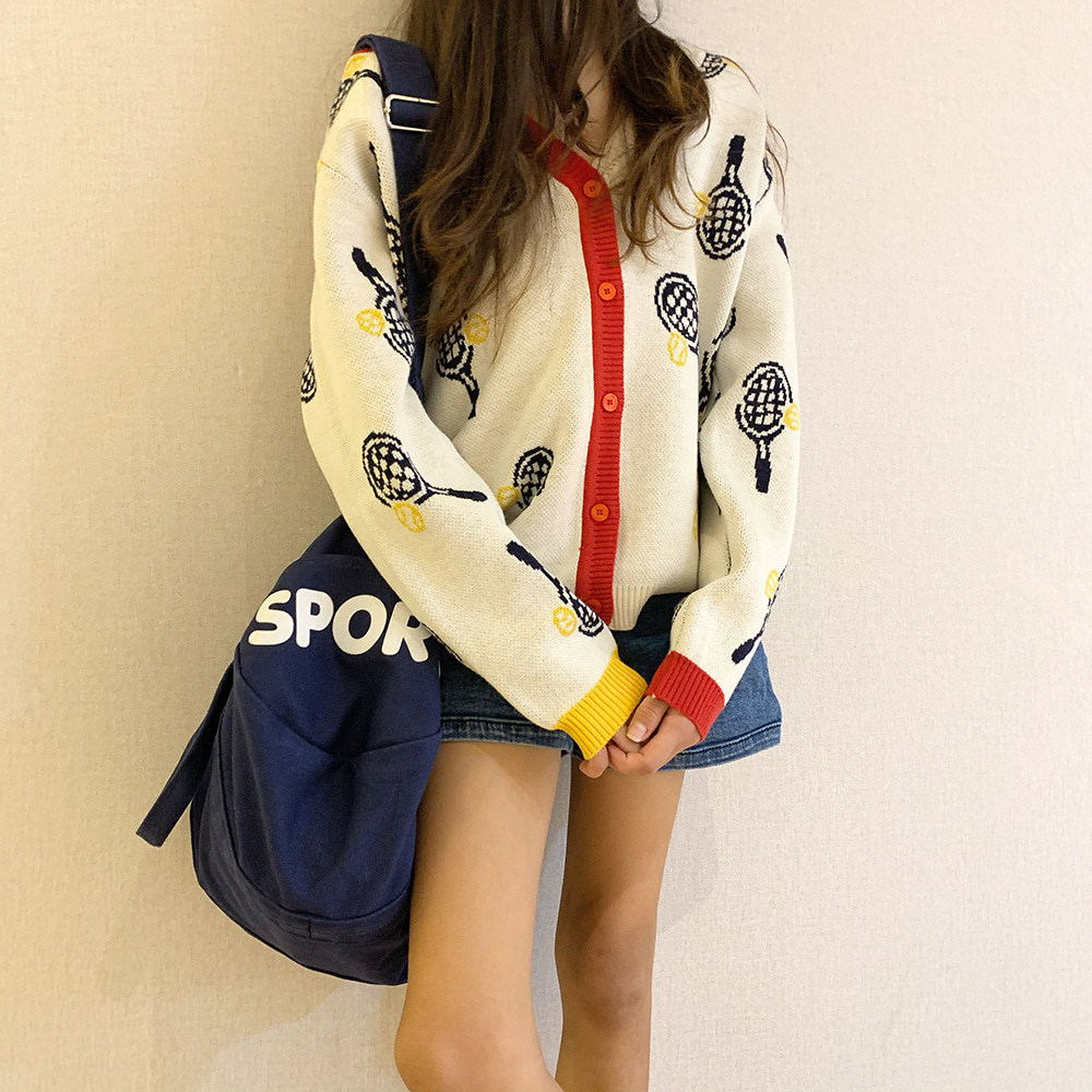 [40% SALE] Tennis Cardigan [Cream]
